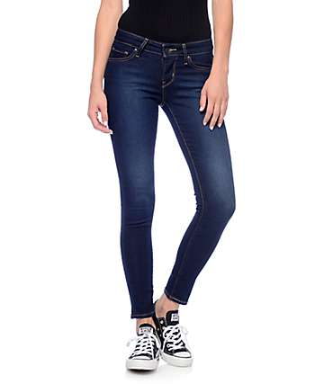Levi's 711 Dark Indigo Mid Skinny Jeans