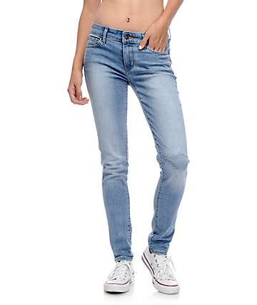 Levi's 711 Light Wash Destroyed Crossroads Jeans