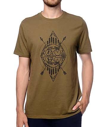 Levi's Commuter Reflect Olive Drop Hem T-Shirt