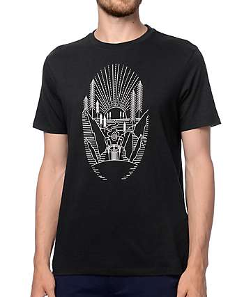 Levi's Commuter Sunset Black Drop Hem T-Shirt