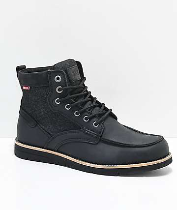 Levi's Dawson Black Boots