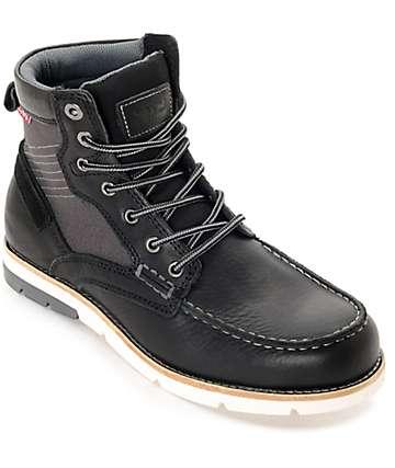Levi's Dawson botas en negro y color carbón