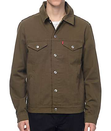 Levi's Olive Commuter Hooded Trucker Jacket II