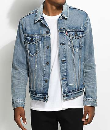 Levi's The Trucker Queen Distressed Denim Jacket
