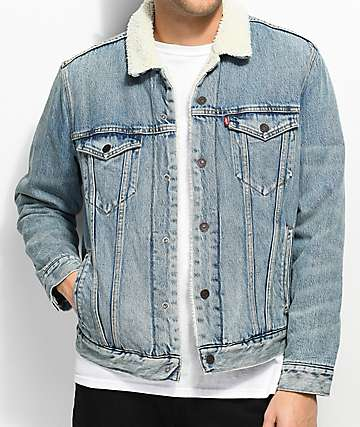 Levi's Type III Blue Washed Sherpa Trucker Jacket