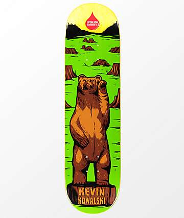 "Lifeblood Kowalski Carved Bear 8.25"" Skateboard Deck"