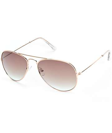 Linx Gradient Ocean Aviator Sunglasses