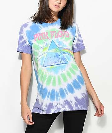 Liquid Blue Pink Floyd camiseta con efecto tie dye