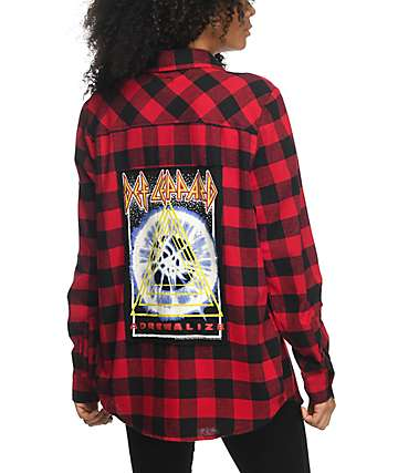 Live Nation Def Leppard Red & Black Flannel
