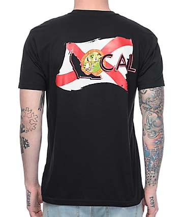Local Half Mast Flag Black T-Shirt