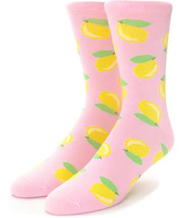 Local Heroes Lemonade Pink Crew Socks