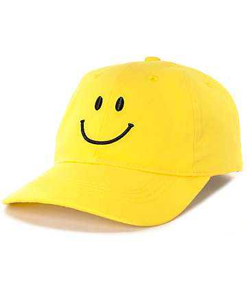Local Heroes Yellow Happy Baseball Hat
