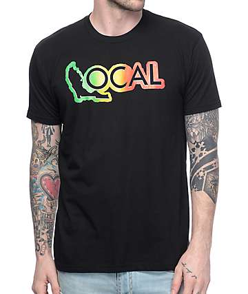 Local Rasta Logo Black T-Shirt