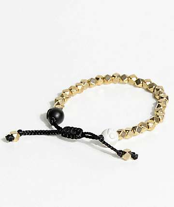 Lokai Multi Bead Gold Bracelet