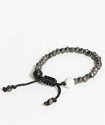 Lokai Multi Bead Gunmetal Bracelet
