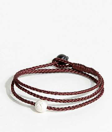 Lokai Triple Wrap Burgundy Bracelet