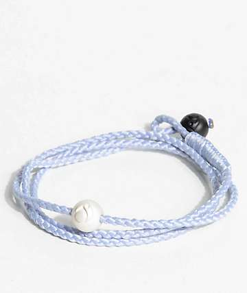 Lokai Triple Wrap Ice Blue Bracelet