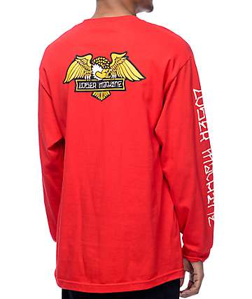 Loser Machine Alleyway Red Long Sleeve T-Shirt