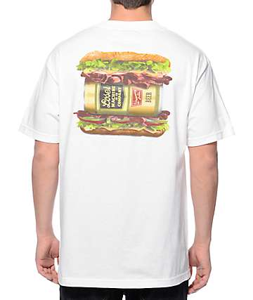 Loser Machine Hoagie White Pocket T-Shirt