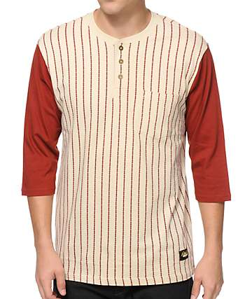 Loser Machine Kicker Henley Baseball Pocket T-Shirt
