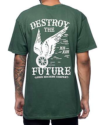Loser Machine Low Road Dark Green T-Shirt