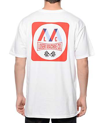 Loser Machine Oil Slick White T-Shirt