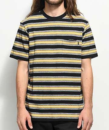 Loser Machine Paramount Gold & Black Striped Knit T-Shirt