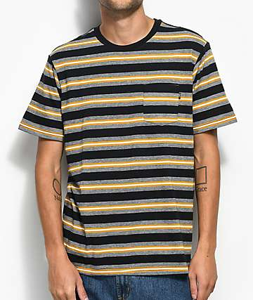Loser Machine Paramount Striped Black Knit Pocket T-Shirt