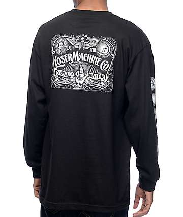 Loser Machine Ritualistic II Black Long Sleeve T-Shirt