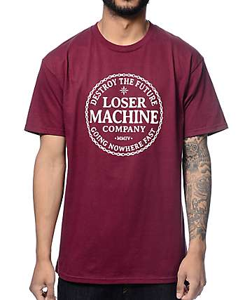 Loser Machine Runner Up Burgundy T-Shirt