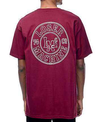 Loser Machine Slug Burgundy T-Shirt