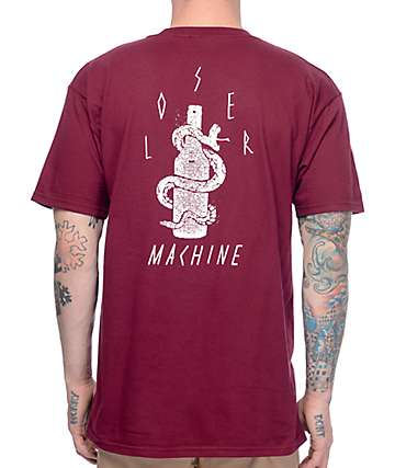 Loser Machine Toxic Burgundy T-Shirt