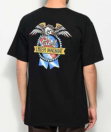 Loser Machine x PBR American Original Black T-Shirt