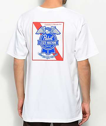 Loser Machine x PBR Condor Ribbon White T-Shirt