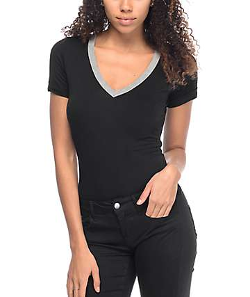 Love, Fire Sadie Ringer Black Bodysuit