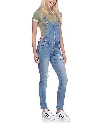 Love, Fire Sam Medium Blue Buttoned Overalls