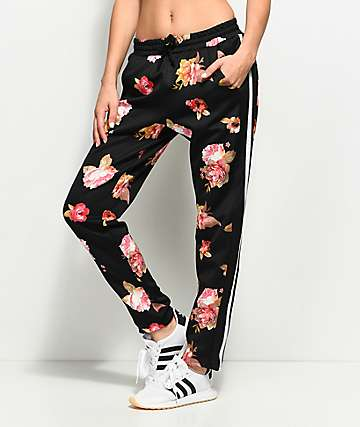 Love, Fire Scuba Floral Track Pants