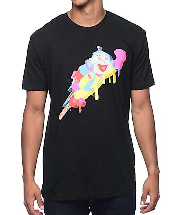Luckie Losers Rocket Boy Popsicle Black T-Shirt
