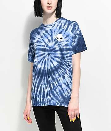 Lunachix Alien camiseta azul con efecto tie dye