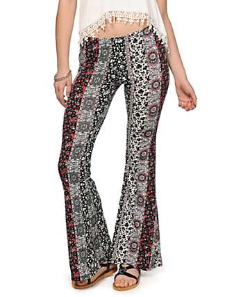Lunachix Aria Linear Tribal Flared Pants