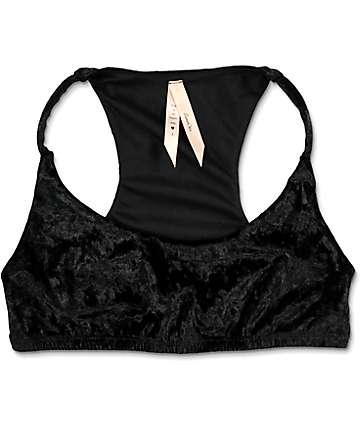 Lunachix Black Crushed Velvet Bralette