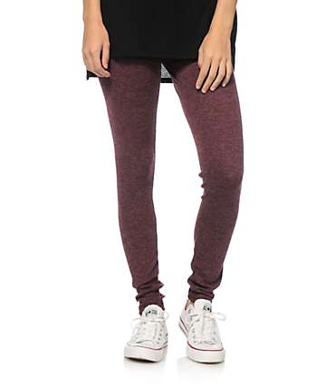Lunachix Blackberry Ribbed Leggings