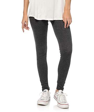 Lunachix Charcoal Ribbed Leggings