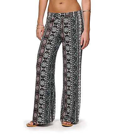 Lunachix Clea Tribal Wide Leg Pants