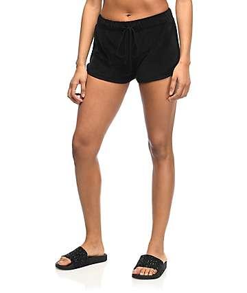 Lunachix Dolphin shorts de terciopelo negro