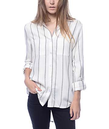 Lunachix Edward Black & White Stripe Woven Shirt