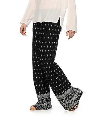 Lunachix Elephant Boarder Wide Leg Pants