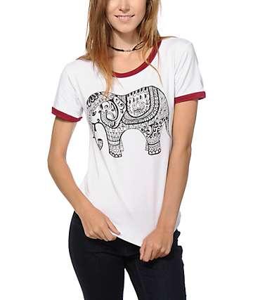 Lunachix Elephant Ringer T-Shirt