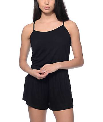 Lunachix Jack Black Ribbed Knit Romper