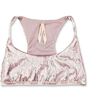 Lunachix Light Pink Crushed Velvet Bralette